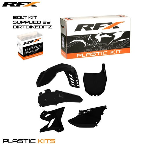 RFX Plastic Kit Yamaha Black YZ125250 15 Plastic Kit - 16 (4 Pc Kit)