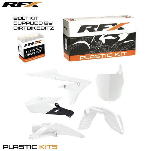 RFX Plastic Kit Yamaha White YZF250450 14 Plastic Kit - 16 (5 Pc Kit)