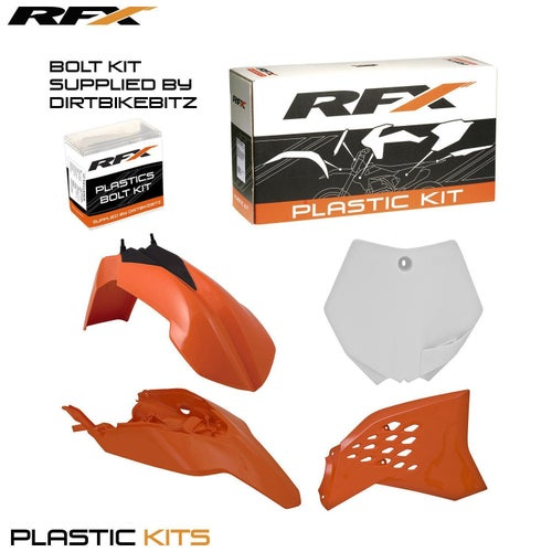 RFX Plastic Kit KTM OEM SX65 12 Plastic Kit - 15 (4 Pc Kit)
