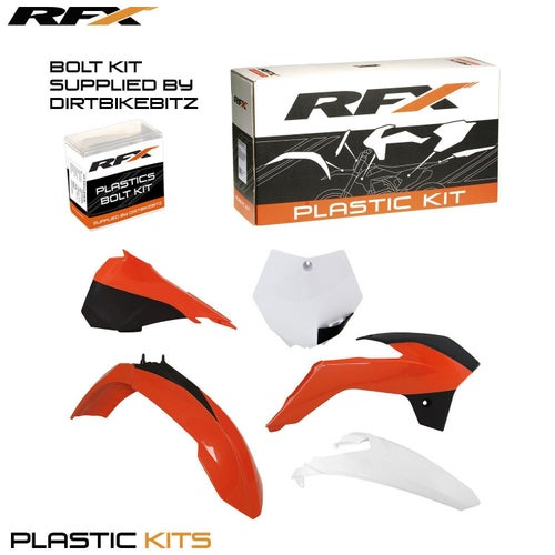 RFX Plastic Kit KTM OEM 16 SX85 13 Plastic Kit - 16 (5 Pc Kit) w Left Airbox Cover