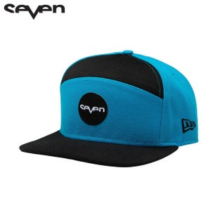 Seven Casual New Era Cap - Ozone Hat Cyan Black