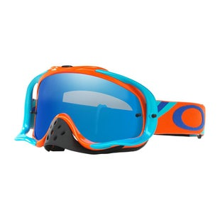 Oakley Crowbar Heritage Motocross Goggles - Racer Orange ~ Black Ice