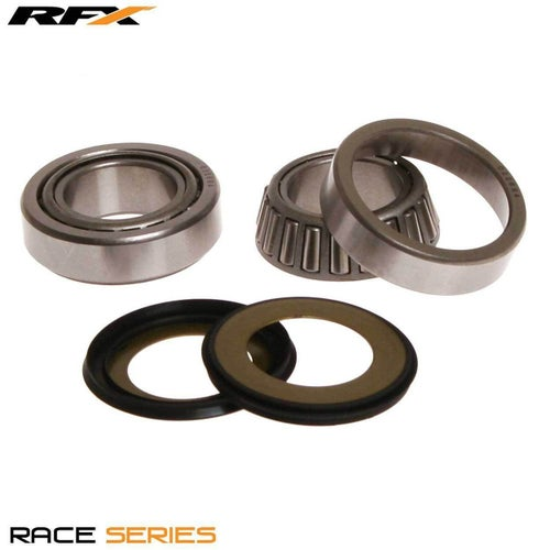 RFX Race Series Steering Kit Kawasaki KX125 250 92 Steering Bearing Kit - Black