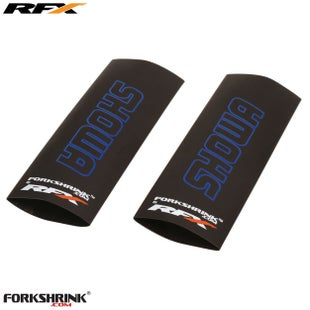 RFX Forkshrink Upper Fork Guard with Showa Logo Universal 125cc525c Fork Shrink Wrap - Blue
