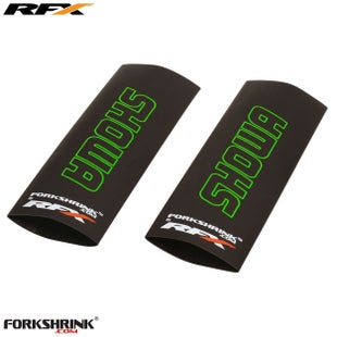 RFX Forkshrink Upper Fork Guard with Showa Logo Universal 125cc525c Fork Shrink Wrap - Green