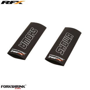 RFX Forkshrink Upper Fork Guard with Showa Logo Universal 85cc Fork Shrink Wrap - White