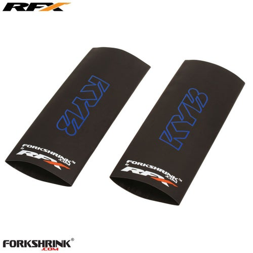 RFX Forkshrink Upper Fork Guard with KYB Logo Universal 125cc525cc Fork Shrink Wrap - Blue