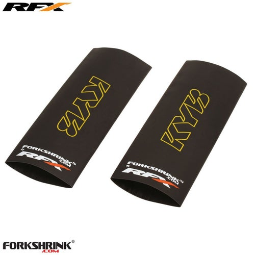 RFX Forkshrink Upper Fork Guard with KYB Logo Universal 125cc 525cc Fork Shrink Wrap - Yellow