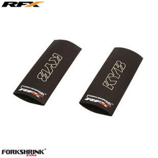 RFX Forkshrink Upper Fork Guard with KYB Logo Universal 85cc Fork Shrink Wrap - White