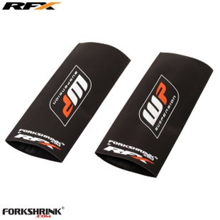 RFX Forkshrink Upper Fork Guard with WP Logo Universal 125cc525cc Fork Shrink Wrap - White Orange