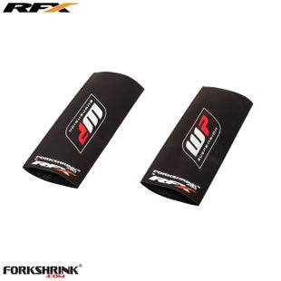 RFX Forkshrink Upper Fork Guard with WP Logo Universal 85cc Fork Shrink Wrap - White Red