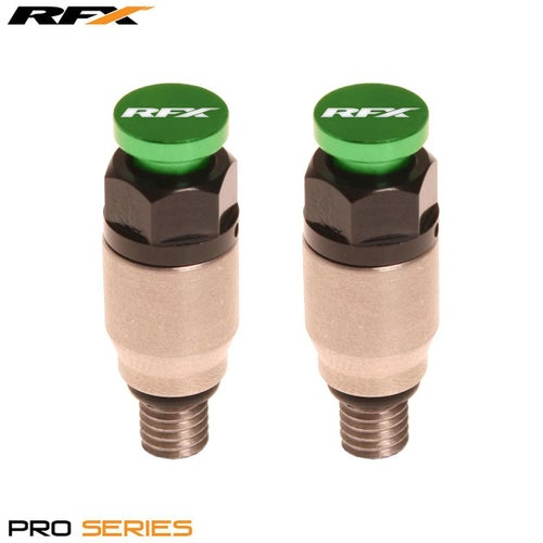 RFX Pro Fork Air Bleeder2 M5x08 Kayaba Showa Fork Bleeder - Stainless Green