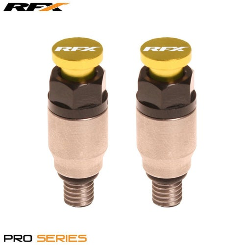 RFX Pro Fork Air Bleeder2 M5x08 Kayaba Showa Fork Bleeder - Stainless Yellow