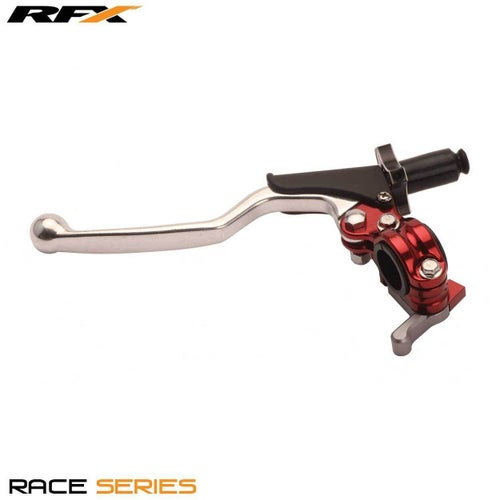 RFX Race Clutch Lever Assembly Universal 4 Stroke EZ Adjust , Clutch Lever Assemblies - Red