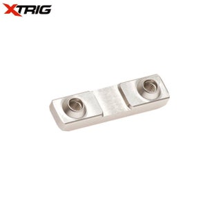 XTrig Replacement Bar Mount Plate 2Pcs Triple Clamp Spares - Silver