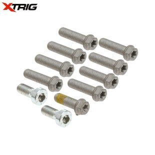 XTrig Replacement Bolt Set Clamps and Stem M8 11pcs Triple Clamp Spares - eplacement Bolt Set Clamps and Stem M8 (11pcs)