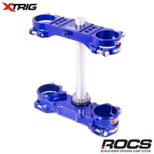 XTrig ROCS Tech Triple Clamp Set Yamaha YZF450 1617 OS 25mm M12 Triple Clamp - Blue