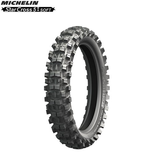 Michelin Offroad Rear Tyre Starcross 5 MX Soft Terr Size 120 90 , Motocross Tyre - Black