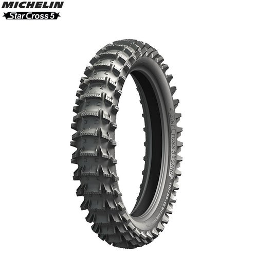 Michelin Offroad Rear Tyre Starcross 5 MX Sand Terr Size 100 90 , Motocross Tyre - Black