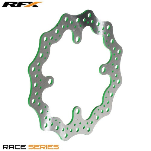 RFX Race Rear Disc Kawasaki KX125 250 0308 , Brake Disc - Green