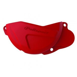 Polisport Plastics Clutch Cover Protector Honda CRF250 101316 Ignition Protector - Red