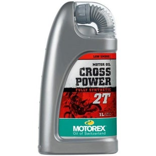 Motorex Crosspower 2T 1 Litre FC TC Synth 2 Stroke Oil Mix - Clear