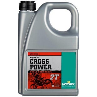 Motorex Crosspower 2T 4 Litre FC TC Synth , 2 Stroke Oil Mix - Clear