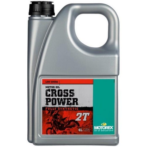 Motorex Crosspower 2T 4 Litre FC TC Synth 2 Stroke Oil Mix - Clear
