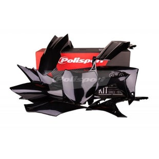 Polisport Plastics Full Plastics Kit Set Honda CRF250R 14 Plastic Kit - 16 Black