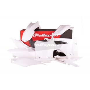 Polisport Plastics Full Plastics Kit Set Honda CRF250R 14 Plastic Kit - 16 White