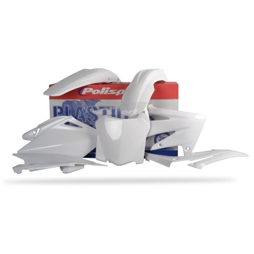 Polisport Plastics Full Plastics Kit Set Plastic Kit - Honda CRF250R 08 White