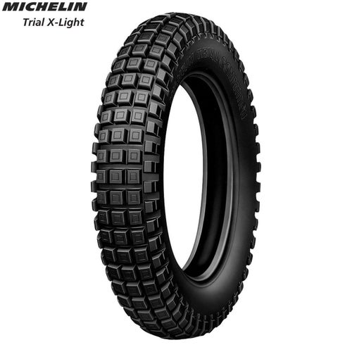Michelin Rear Tyre Trial XL Comp Trial Light Size 120 100 , Motocross Tyre - Black