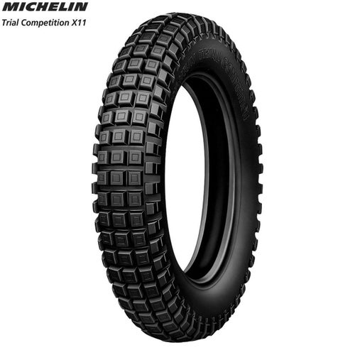 Michelin Rear Tyre Trial X11 Tubeless Size 400 , Motocross Tyre - Black