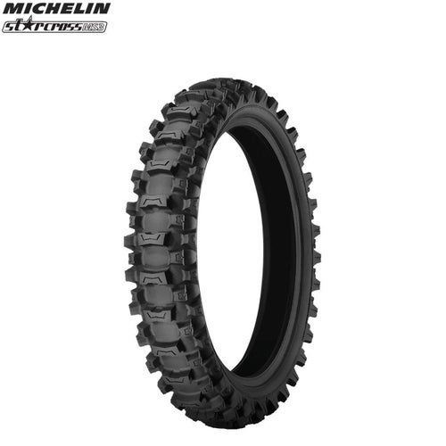 Michelin Rear Tyre MS3 MX Med Soft Terr Size 90 100 , Motocross Tyre - Black