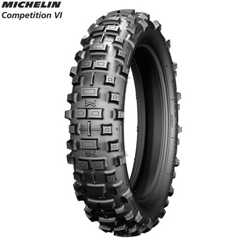 Michelin Rear Tyre Comp 6 FIM Enduro App Size 120 90 , Motocross Tyre - Black