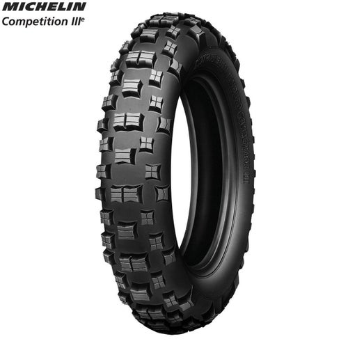 Michelin Rear Tyre Comp 3 FIM Enduro App Size 120 90 , Motocross Tyre - Black