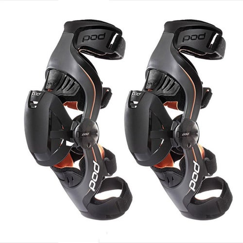 POD K1 Motocross They Grow with child Pair Knee Brace - Black