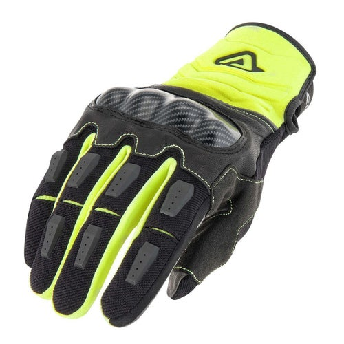 Acerbis Carbon G 30 Dual Fluo Yellow Black Bike Gloves - Large