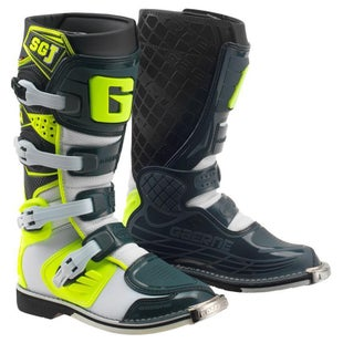 Gaerne Boots SGJ Kids Motocross Boots - White Yellow Grey