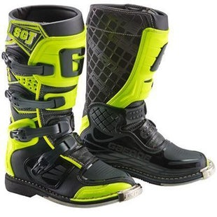 Gaerne Boots SGJ YOUTH Motocross Boots - Black Yellow Fluo