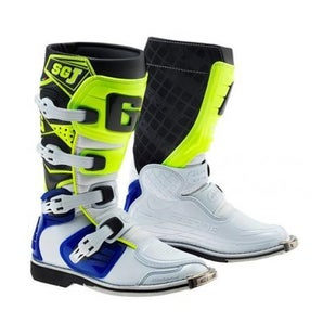 Gaerne Boots SGJ YOUTH Motocross Boots - White Blue Yellow