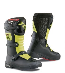 TCX Comp Boys Motocross Boots - Flou Yellow Black