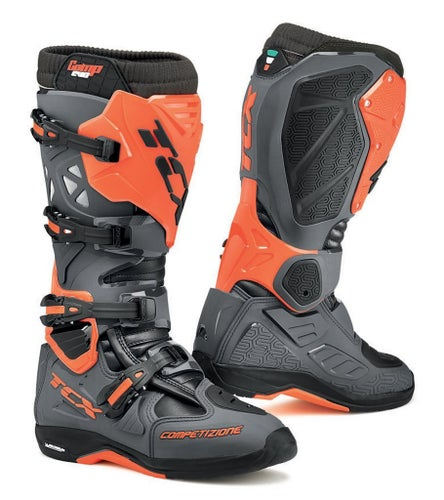 TCX Comp Evo 2 Michelin Motocross Boots - Grey Orange