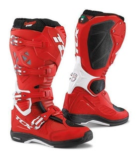 TCX Comp Evo 2 Michelinand Enduro Motocross Boots - Red