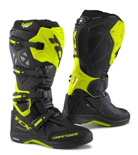 TCX Comp Evo 2 Michelinand Enduro Black Motocross Boots - Fluo Yellow
