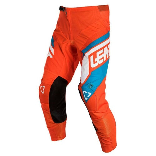 Leatt GPX 4.5 Motocross Pants - Orange Denim