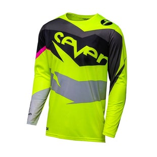 Seven 181 Annex Ignite Motocross Jerseys - Black Fluorescent Yellow