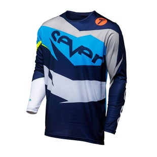 Seven 181 Annex Ignite Motocross Jerseys - Coral Navy