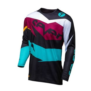Seven 181 Annex Ignite Motocross Jerseys - Black Maroon