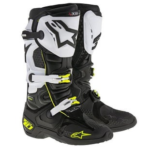 Alpinestars Tech 10 MX Motocross Boots - Black White